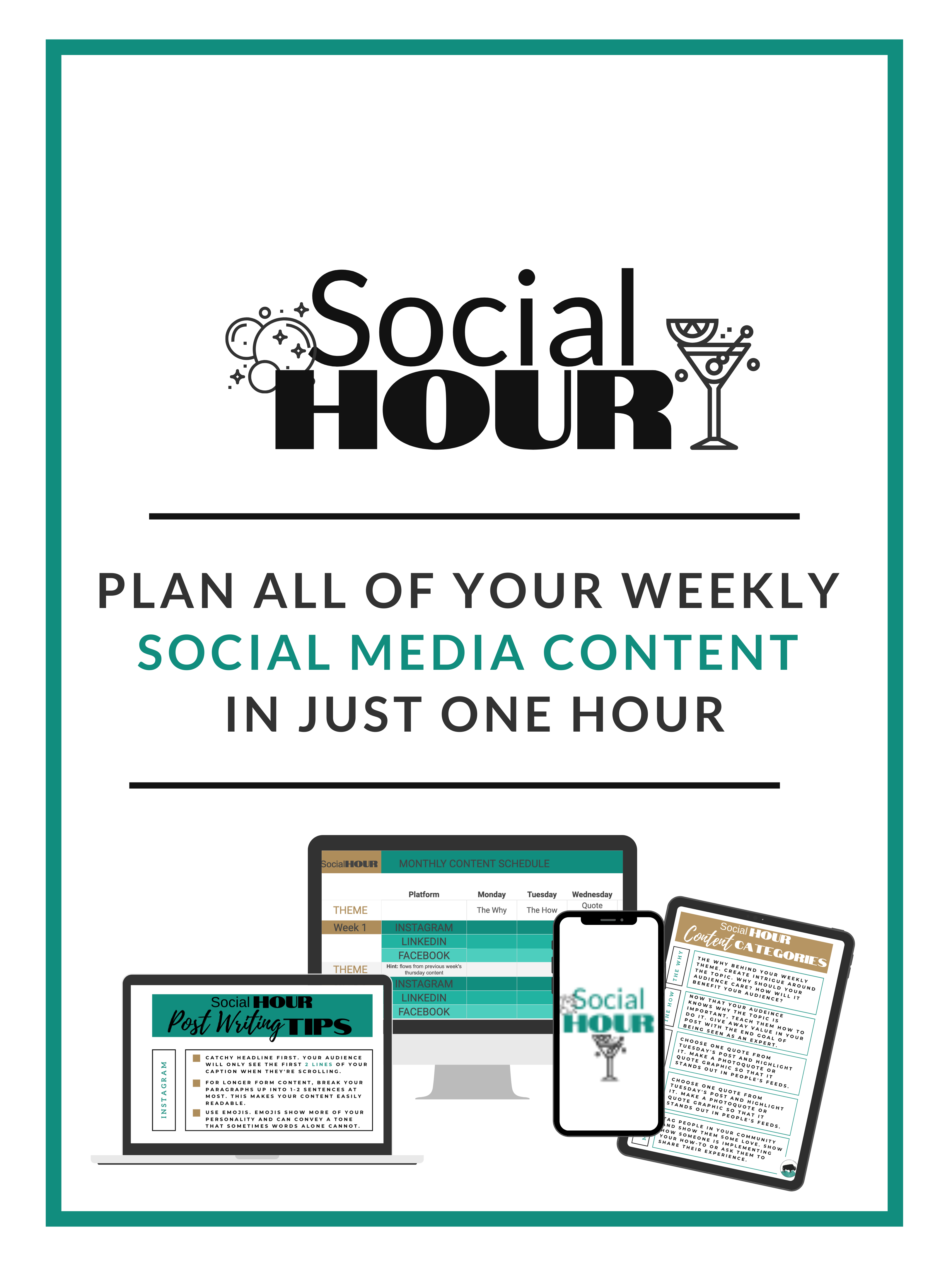 Plan your social media content in one hour per week