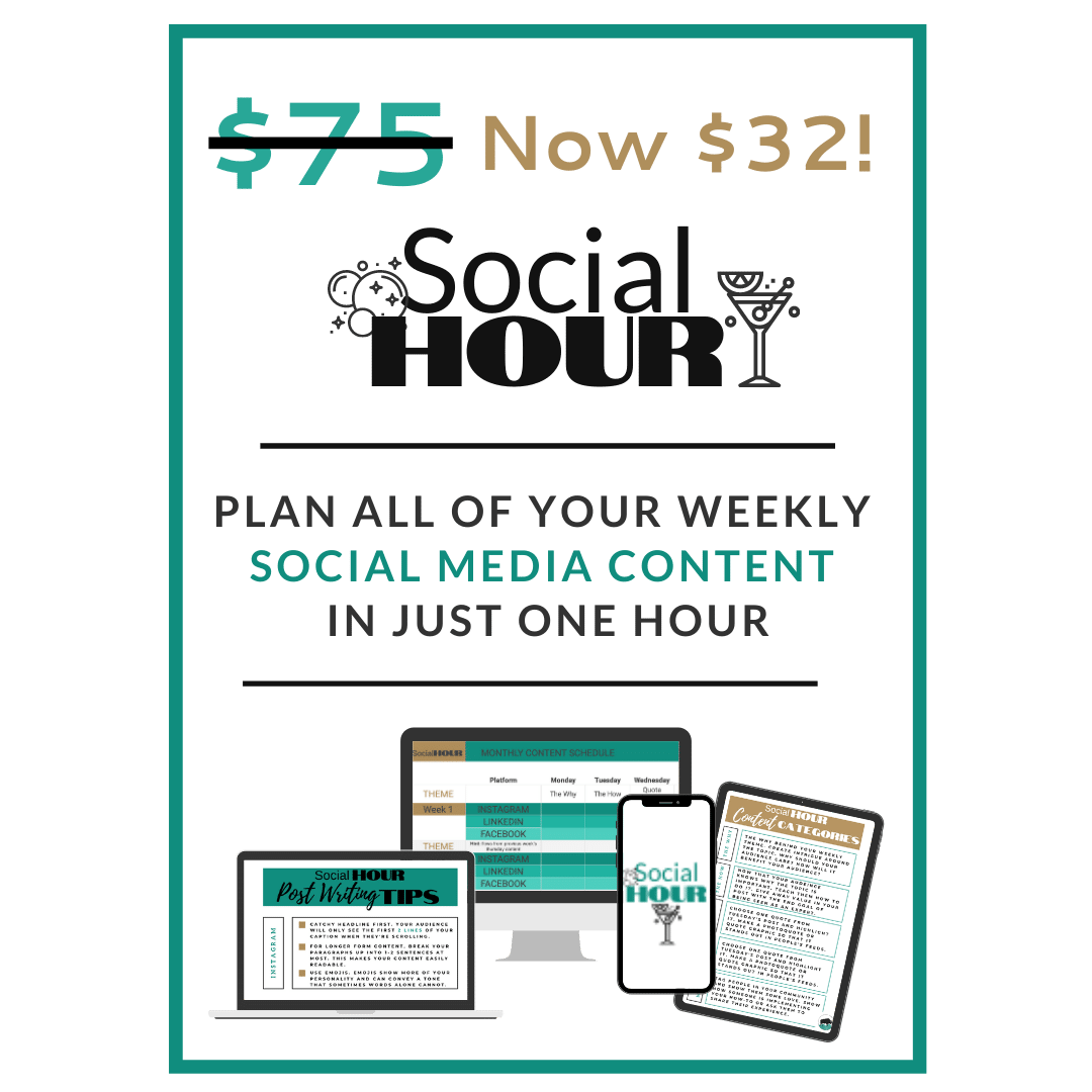 do your weekly social media in just one hour